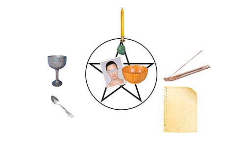 autel pour le rituel pour trouver du travail